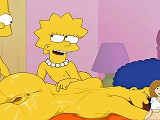 Cartoon Porn Simpsons Porn Bart And Lisa Have Fun With Mom Marge Mdash Vporn