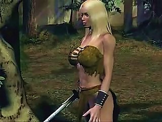 Animated  Babe With Her Sword
