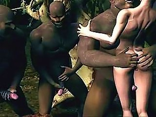 Virtual Hottie Getting Dicked By Big Black Guys