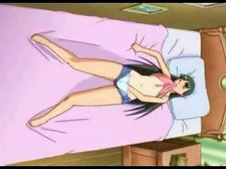 Anime Girl Fingering On Bed
