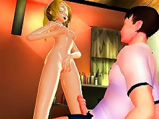 Mmd Sexy Blonde Babe Ready & Eager To Please Bigbro Gv00144